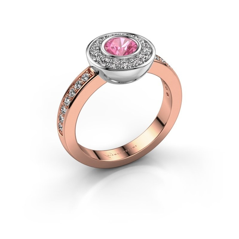 Ring Ivy 585 rose gold pink sapphire 5 mm