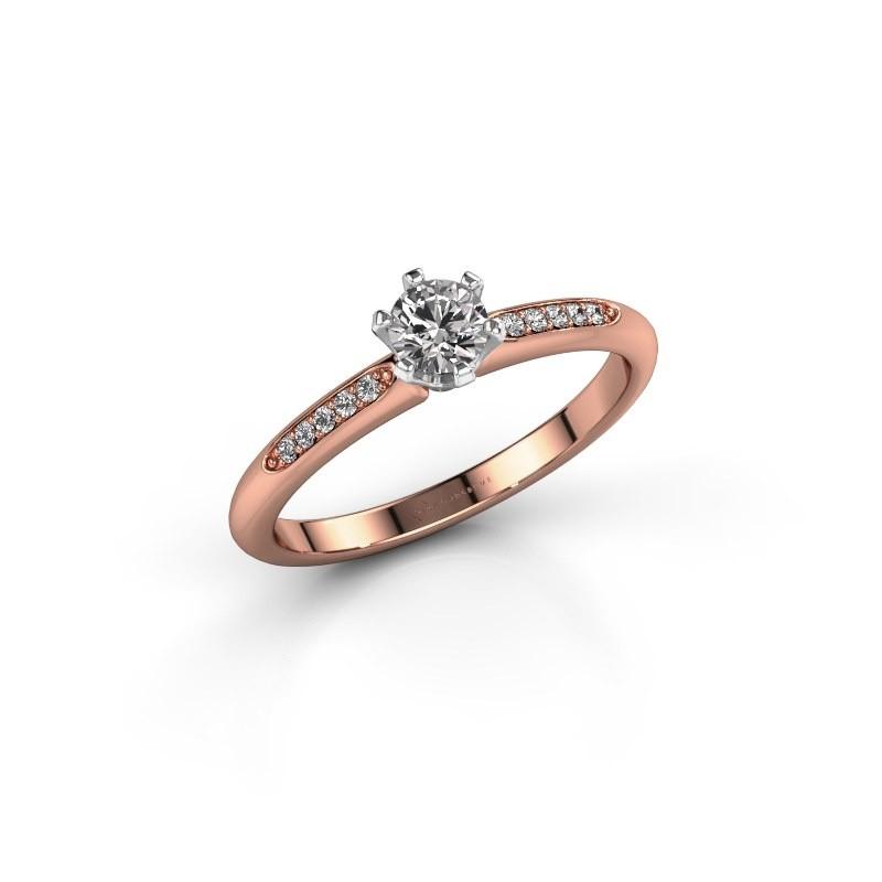 Verlovingsring Tiffy 2 585 rosé goud diamant 0.25 crt
