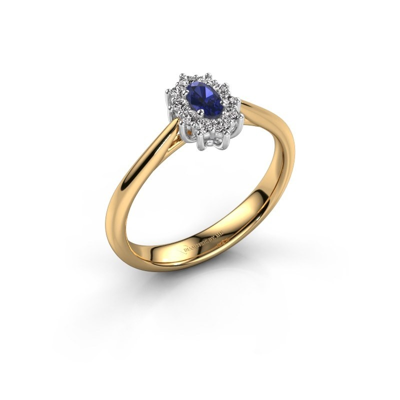 Engagement ring Leesa 1 585 gold sapphire 6x4 mm