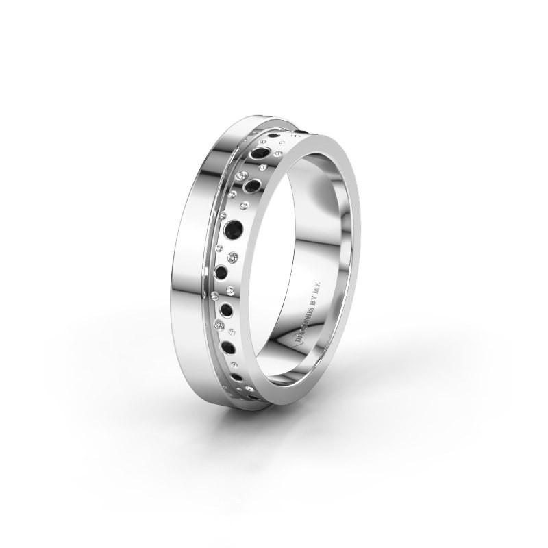 Alliance WH6016L15E 925 argent diamant noir ±5x2.6 mm