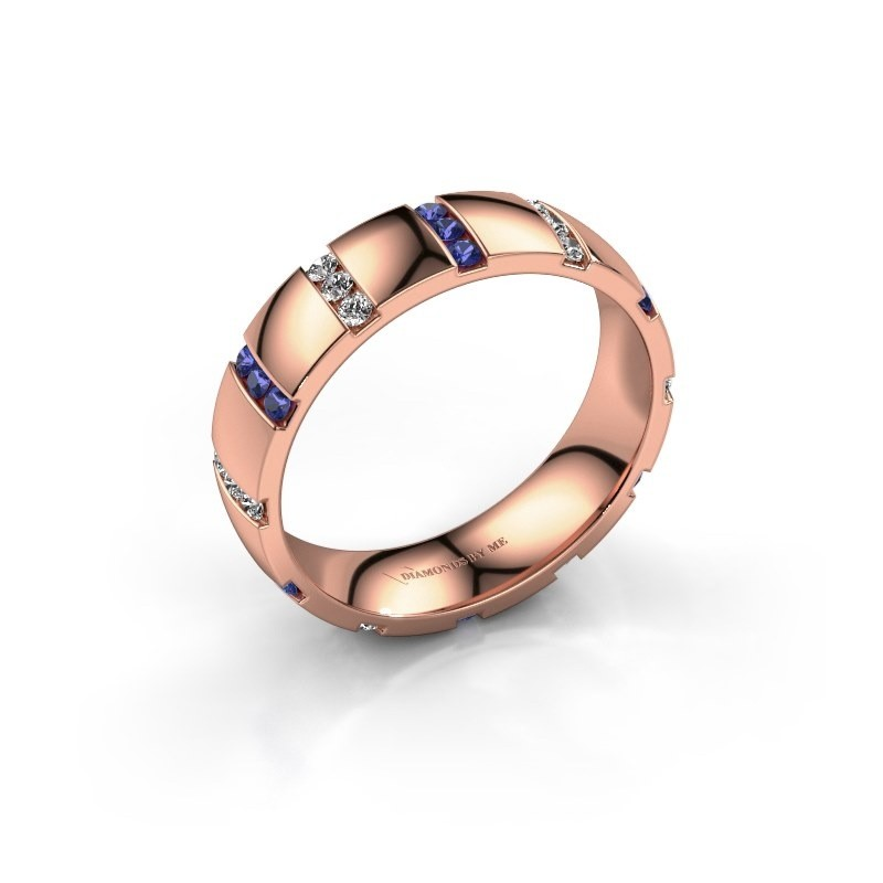 Weddings ring Juul 585 rose gold sapphire ±5x1.8 mm