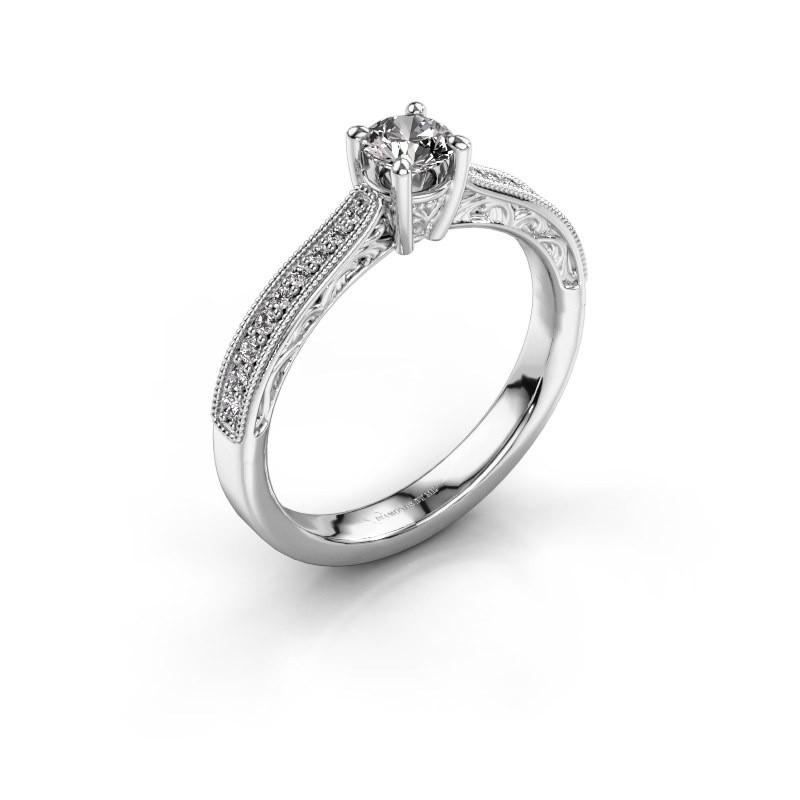Belofte ring Shonta RND 950 platina diamant 0.43 crt