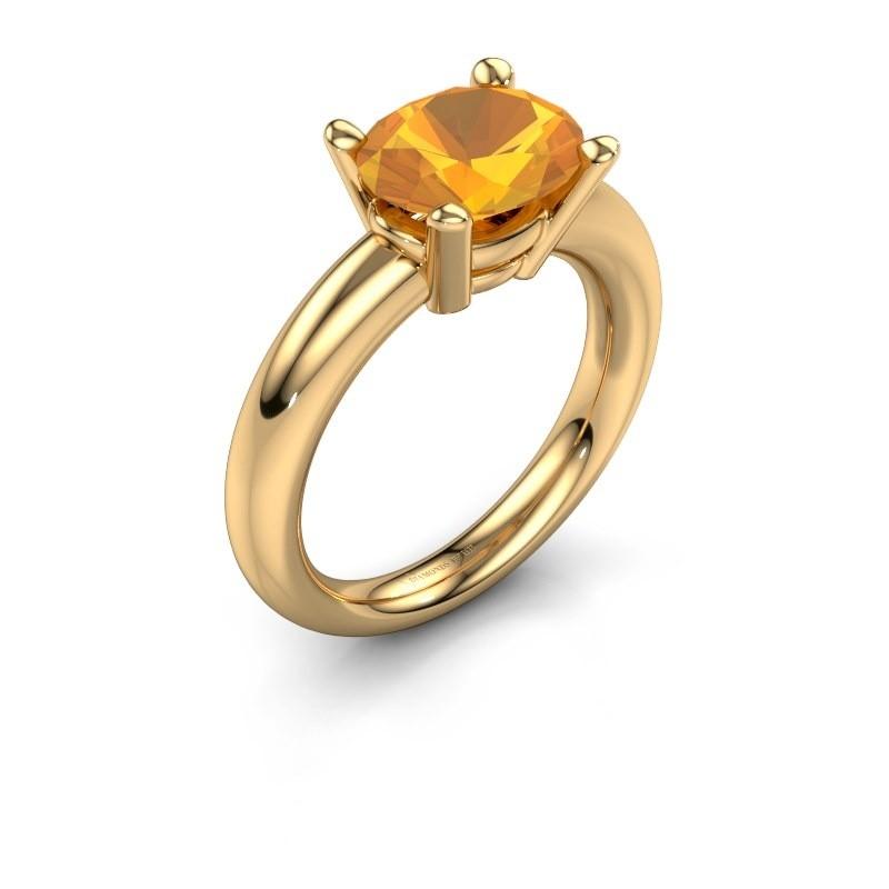 Ring Janiece 585 goud citrien 10x8 mm