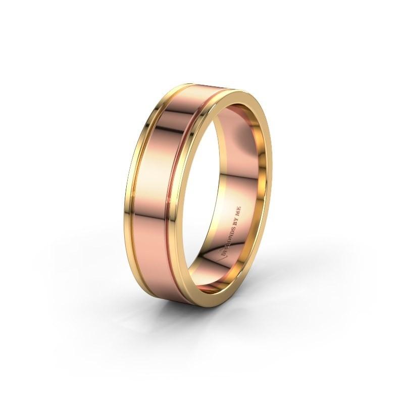 Wedding ring WH0600M16AP 585 rose gold ±6x1.7 mm