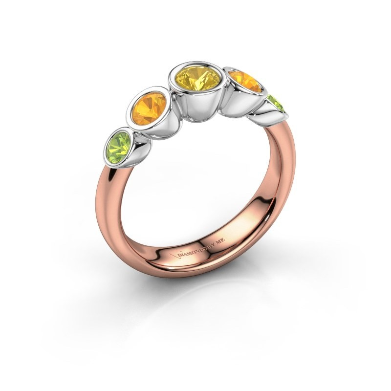 Ring Lizz 585 rose gold yellow sapphire 4 mm