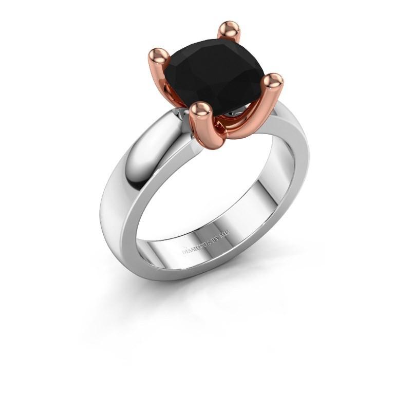 Ring Clelia CUS 585 white gold black diamond 3.60 crt