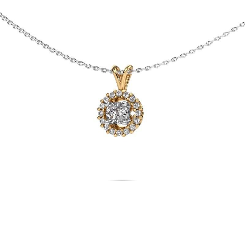 Pendant Tennille 585 gold lab-grown diamond 0.37 crt