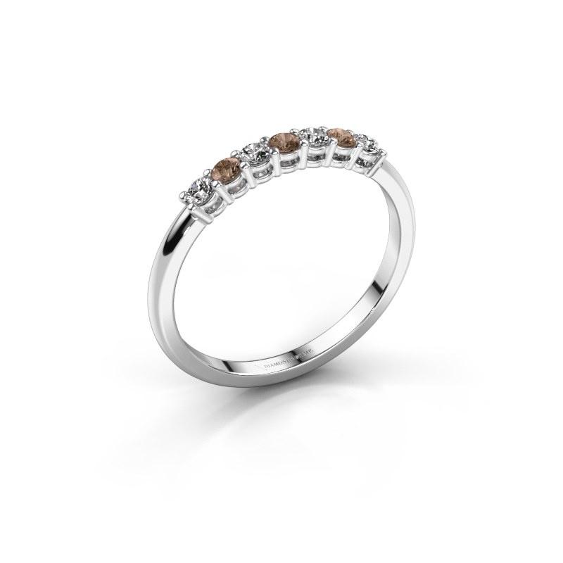 Verlovings ring Michelle 7 950 platina bruine diamant 0.21 crt