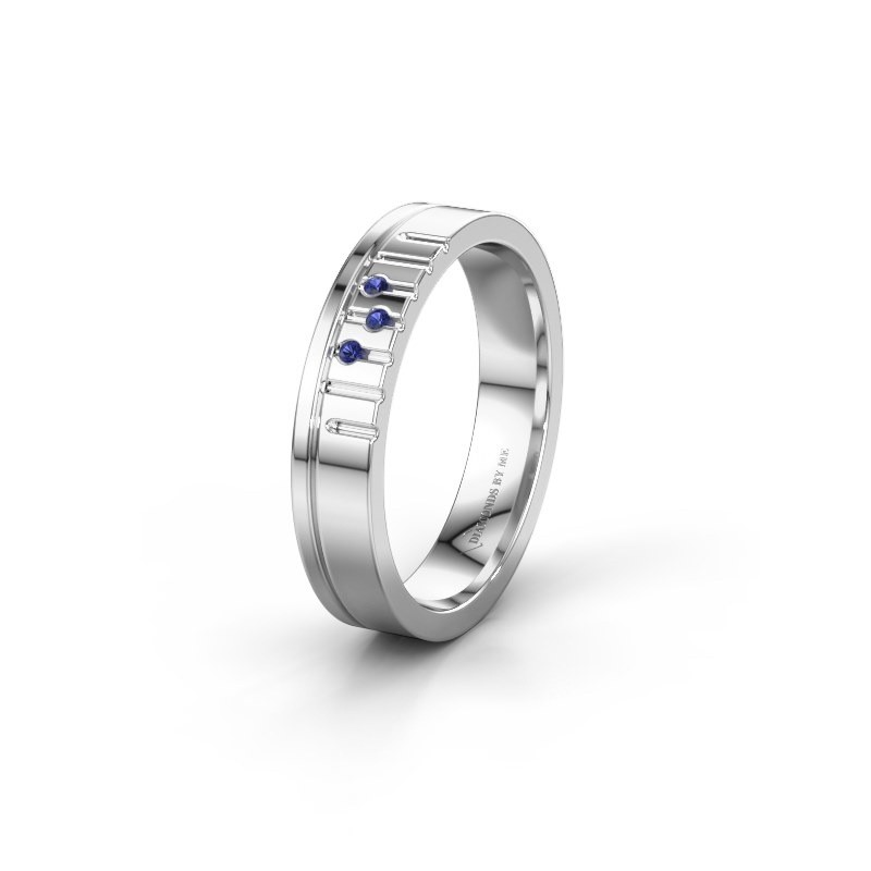 Friendship ring WH0332L14X 925 silver sapphire ±0.16x0.06 in