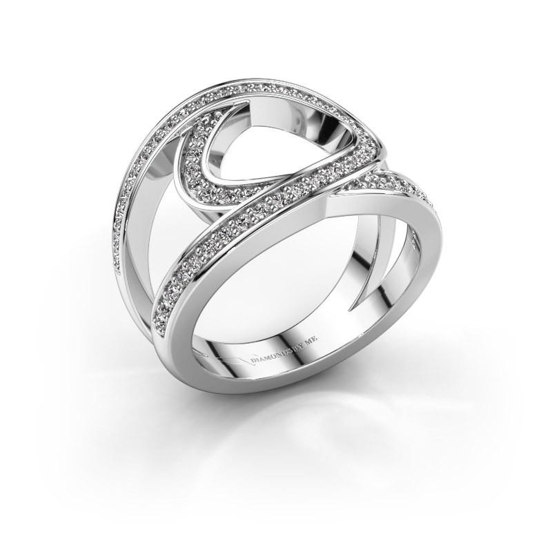 Bague Louise 950 platine diamant 0.443 crt