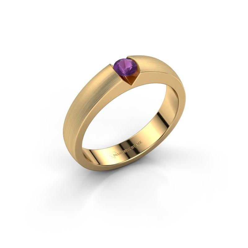 Verlovingsring Theresia 375 goud amethist 3.4 mm
