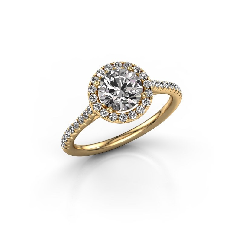 Engagement ring Seline rnd 2 375 gold diamond 1.340 crt