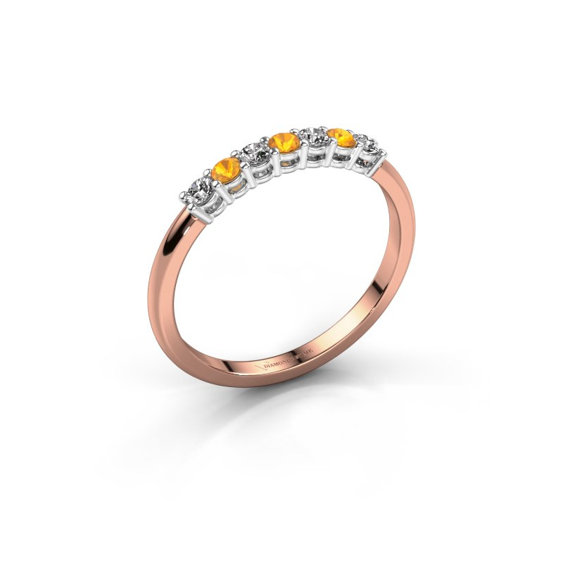 Engagement ring Michelle 7 585 rose gold citrin 2 mm