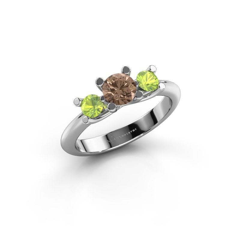Ring Mirthe 585 Weißgold Braun Diamant 0.50 crt