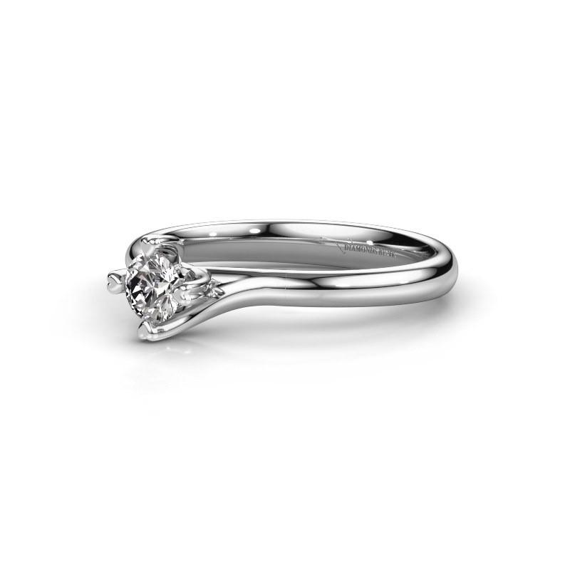 Verlovingsring Livia 950 Platina Diamant 025 Crt