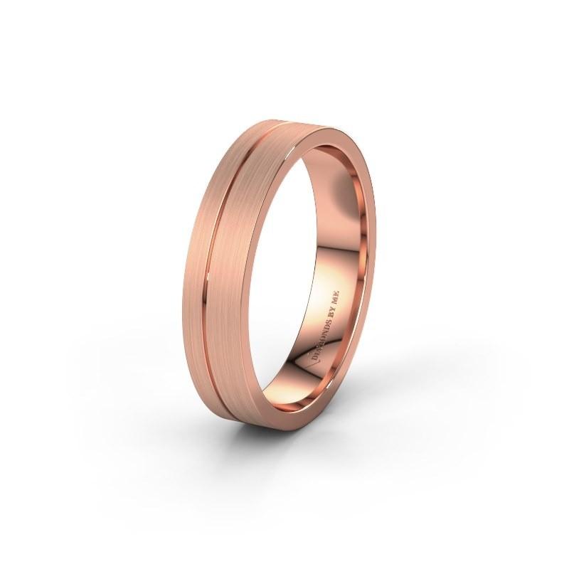 Trouwring WH0160M14XM 375 rosé goud ±4,5x1.5 mm