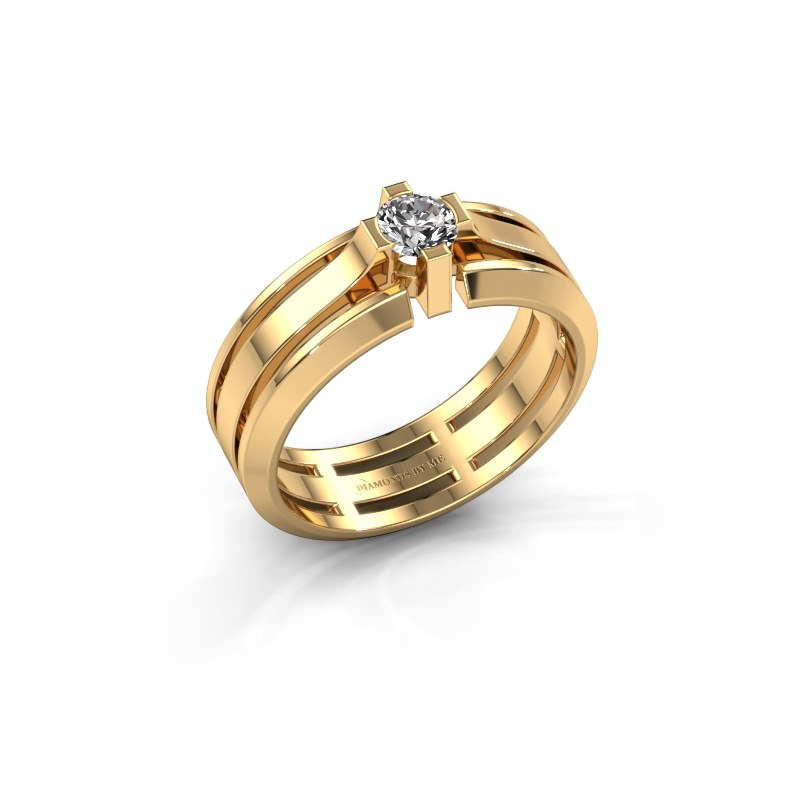Herrenring Sem 585 Gold Lab-grown Diamant 0.40 crt