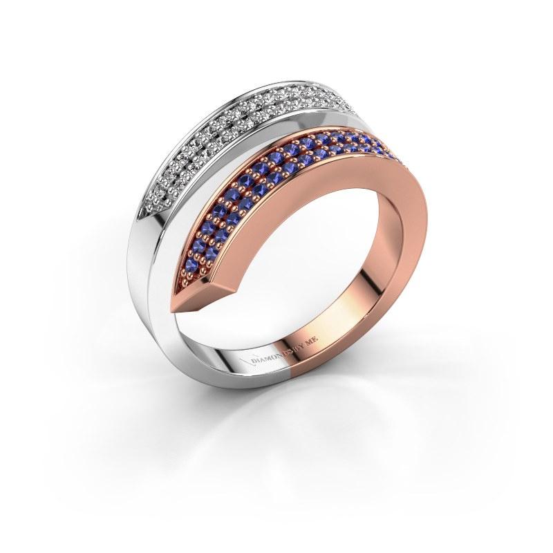 Ring Pien 585 rose gold sapphire 1.2 mm