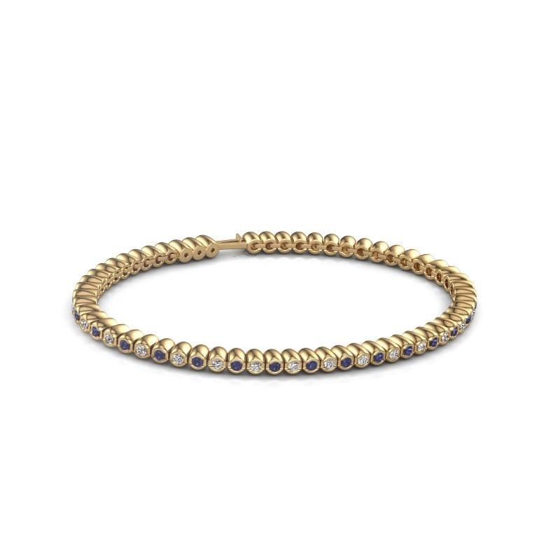 Tennisarmband Trix 375 goud saffier 2 mm