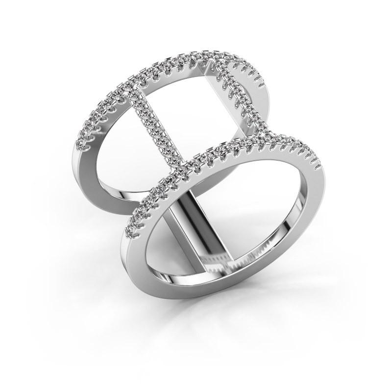 Ring Amee 950 platinum zirconia 1.2 mm