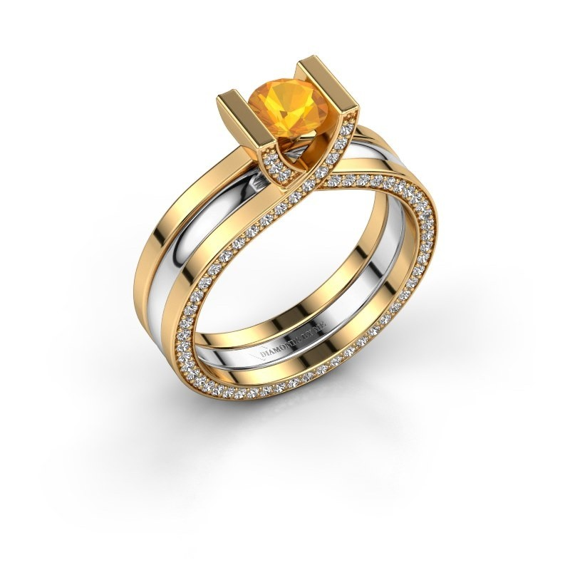 Verlobungsring Kenisha 585 Gold Citrin 5 mm