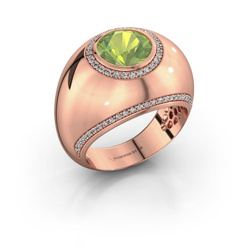 Ring Roxann 375 rose gold peridot 8 mm