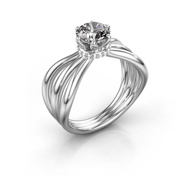 Bague de fiançailles Kimi 950 platine diamant 1.00 crt