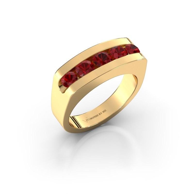 Men's ring Richard 375 gold ruby 4 mm