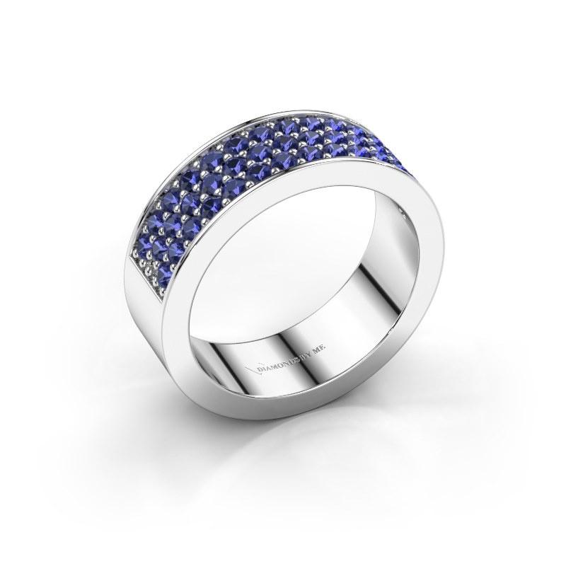 Ring Lindsey 6 925 zilver saffier 1.7 mm