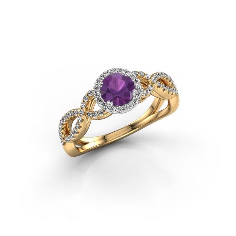 Engagement ring Dionne rnd 585 gold amethyst 5 mm