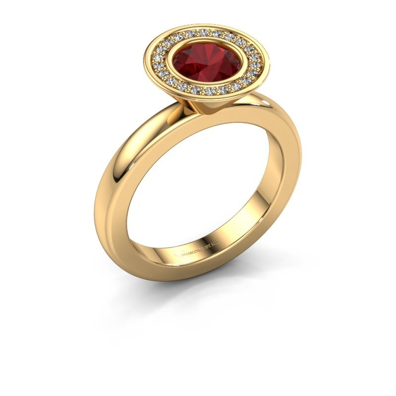 Stapelring Danille 585 goud robijn 6 mm