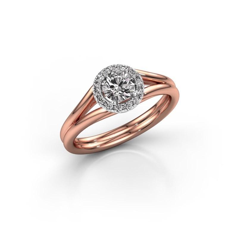 Engagement ring Verla rnd 1 585 rose gold diamond 0.505 crt