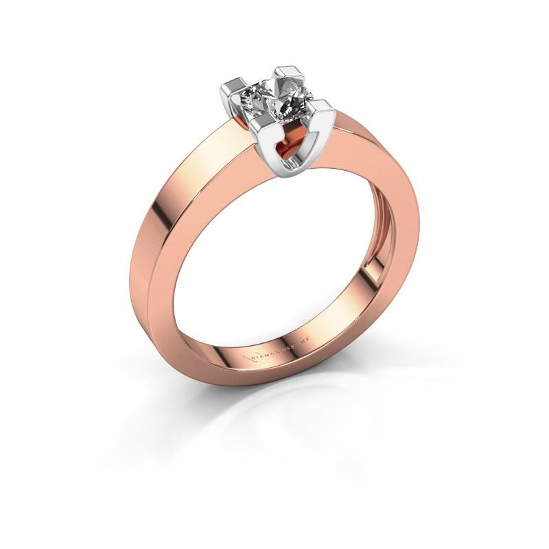Promise ring Anne 1 585 rosé goud zirkonia 4.7 mm