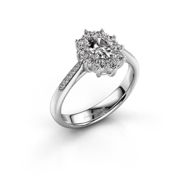 Verlovingsring Leesa 2 585 witgoud lab-grown diamant 0.50 crt