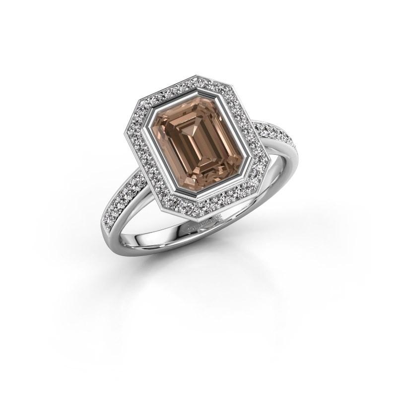 Verlovingsring Noud 2 EME 585 witgoud bruine diamant 2.074 crt