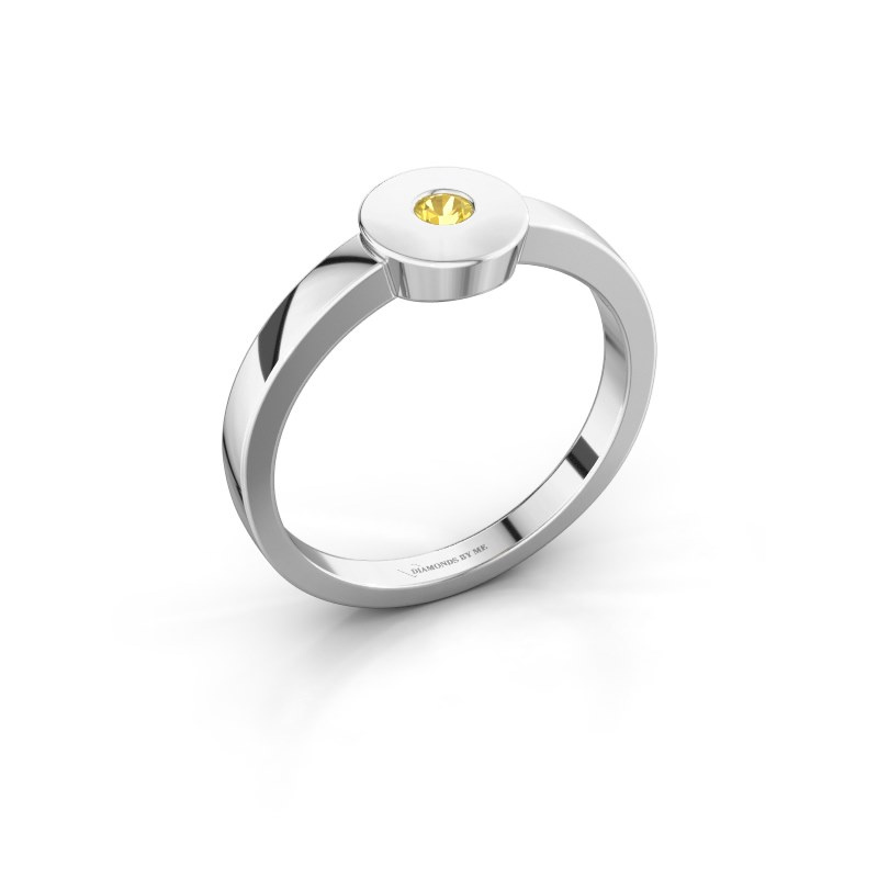 Ring Elisa 585 Weißgold Gelb Saphir 3 mm