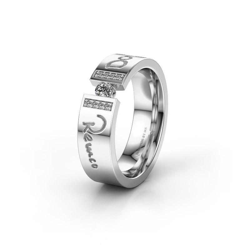 Trouwring WH2094L16C 925 zilver ±6x2.2 mm