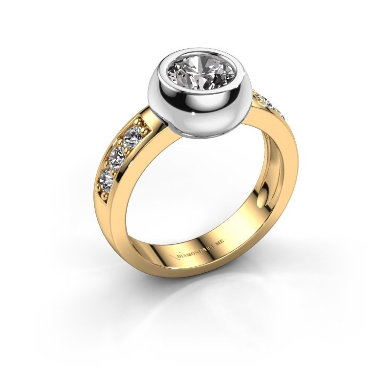 Ring Charlotte Round 585 goud diamant 1.33 crt