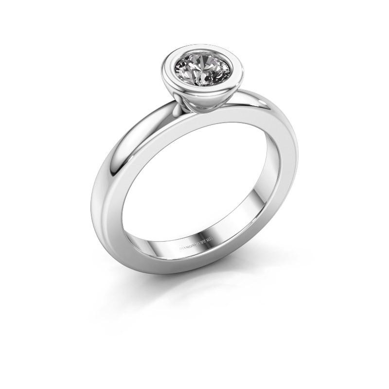 Steckring Eloise Round 925 Silber Diamant 0.50 crt