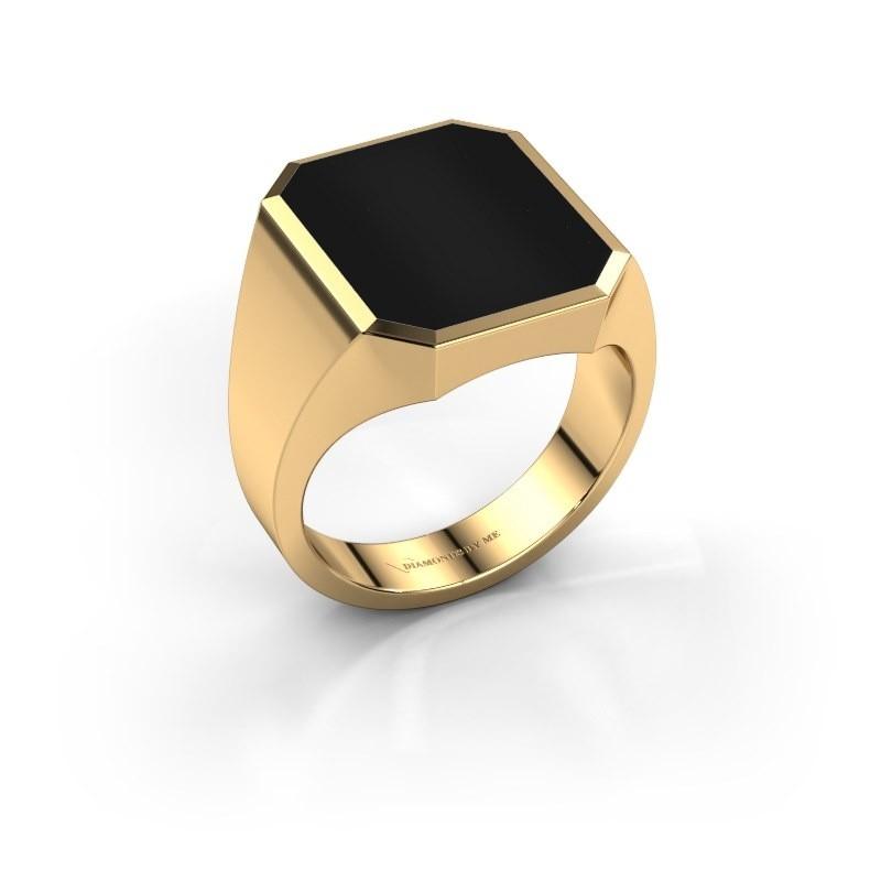Zegelring Lars 5 585 goud onyx 16x13 mm