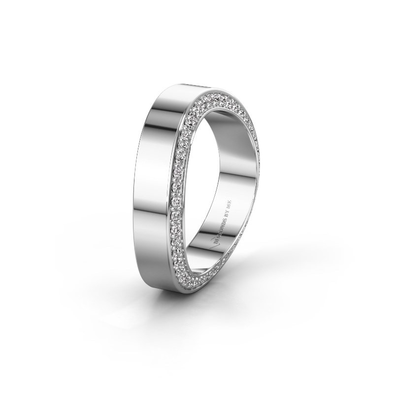 Trouwring WH2027BM 585 witgoud diamant 0.330 crt ±5x2.2 mm