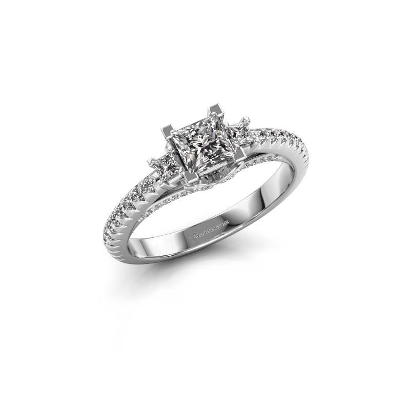 Verlovingsring Valentina 925 zilver diamant 0.88 crt