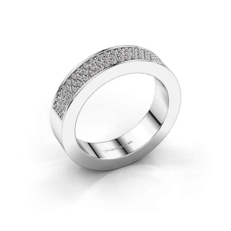 Ring Lindsey 2 585 witgoud zirkonia 1.1 mm