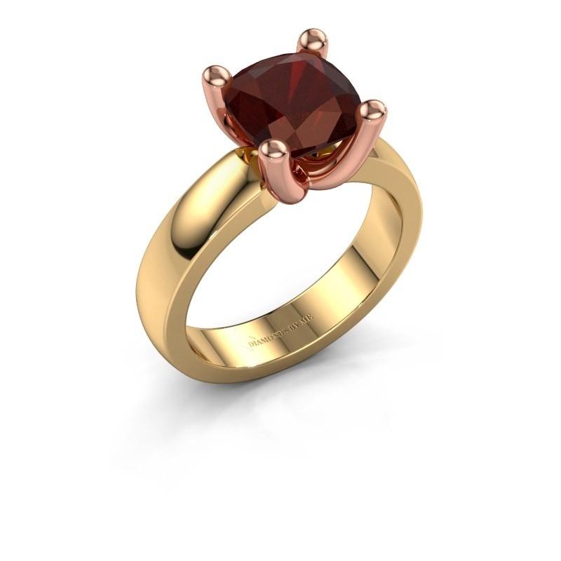 Ring Clelia CUS 585 goud granaat 8 mm