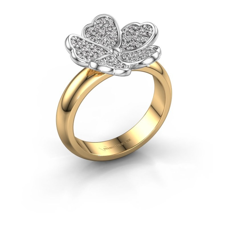 Ring Daphne 585 goud zirkonia 1.2 mm