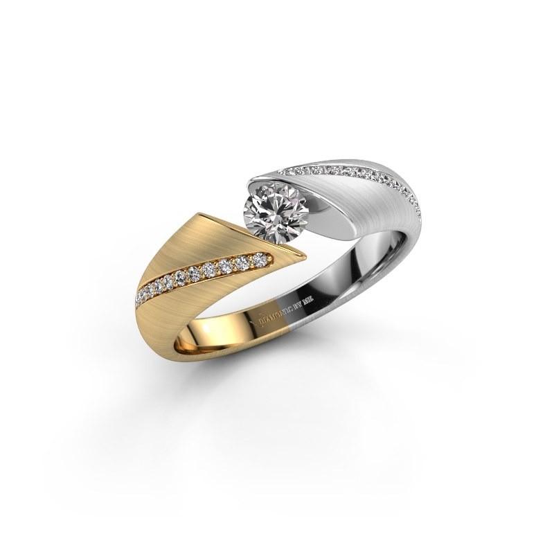 Verlovingsring Hojalien 2 585 goud zirkonia 4.2 mm