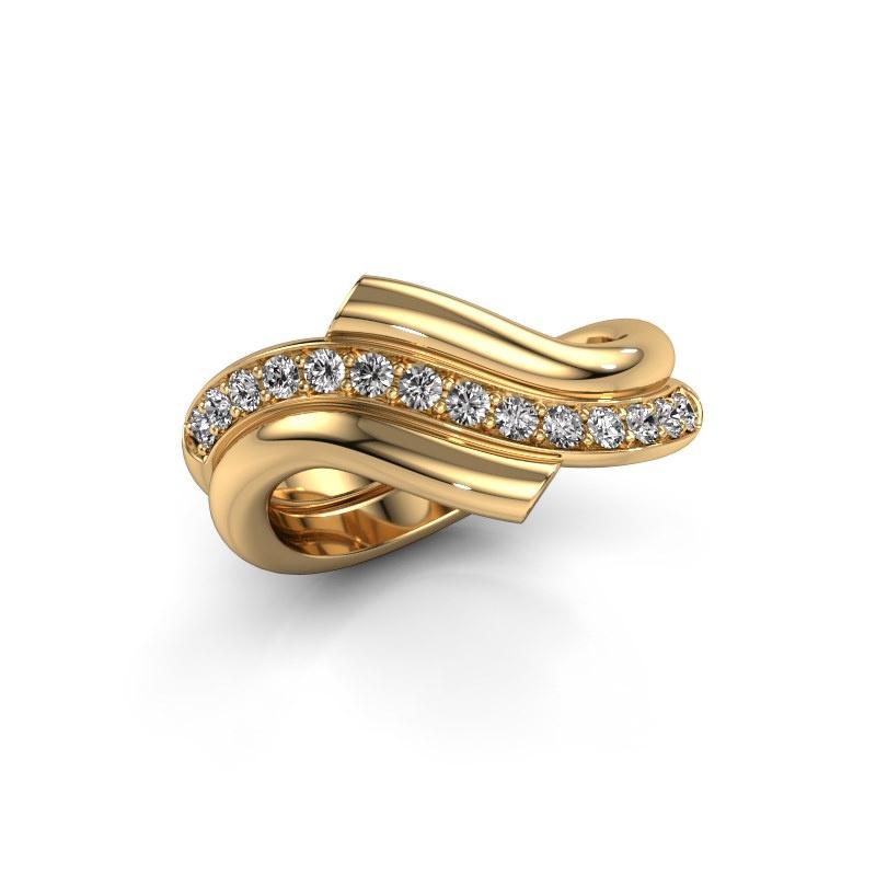 Ring Guusje 585 gold zirconia 1.8 mm