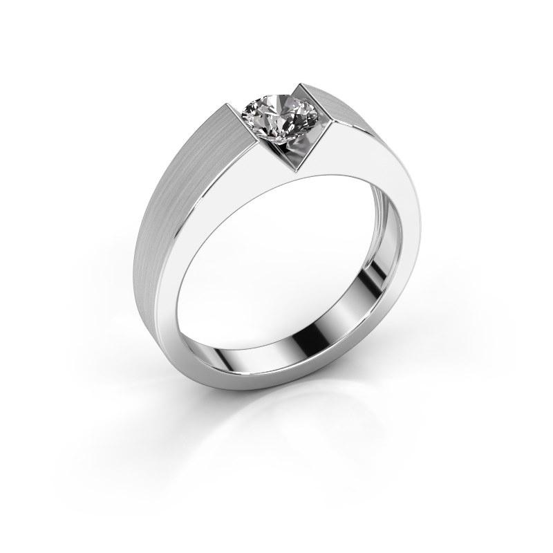 Verlovingsring Lizzy 1 585 witgoud diamant 0.50 crt
