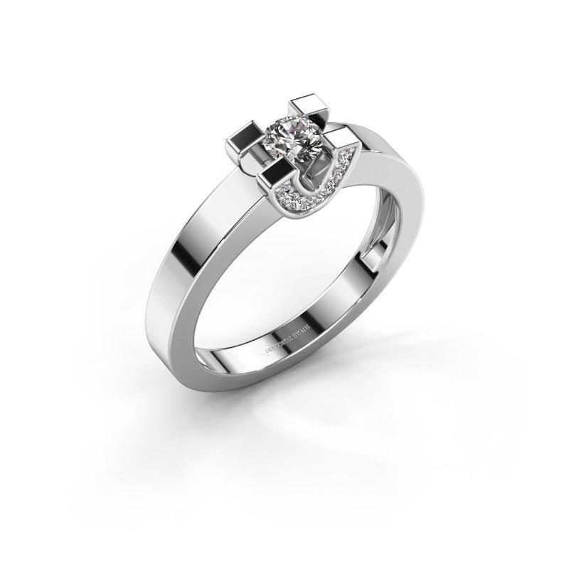 Verlovingsring Jasmijn 1 925 zilver diamant 0.33 crt