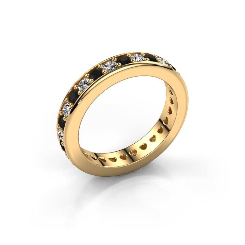 Aanschuifring Nienke 375 goud zwarte diamant 1.386 crt